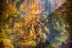 Het schilderen over het plafond Royalty-vrije Stock Afbeelding