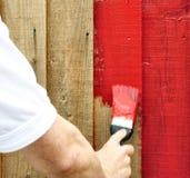 Het schilderen rood Stock Fotografie
