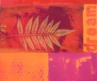 Het schilderen rood en sinaasappel Royalty-vrije Stock Foto