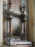 Het schilderen in saintes royalty-vrije stock afbeelding
