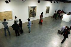 Het schilderen tentoonstelling van Spaanse schilder Pablo Picas Stock Fotografie