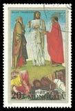 Het schilderen Transfiguratie door Bellini Stock Afbeeldingen