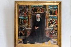Het schilderen van Adriaen Isenbrant - Onze Dame van Zeven Sorrowsat royalty-vrije stock afbeeldingen