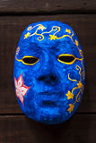 Het schilderen van blauw masker Stock Afbeelding