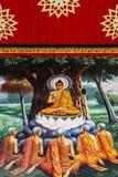 Het schilderen van Boedha op tempel Stock Afbeeldingen
