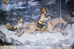 Het schilderen van Boedha op tempel Stock Foto's
