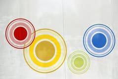 Het schilderen van cirkels Royalty-vrije Stock Foto's