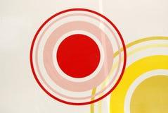 Het schilderen van cirkels Stock Fotografie