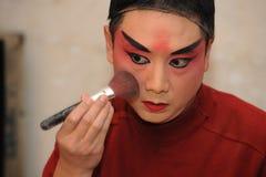 Het Schilderen van de acteur maskers Stock Afbeelding