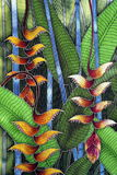 Het schilderen van de batik Royalty-vrije Stock Afbeeldingen