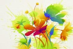 Het schilderen van de bloem Stock Afbeeldingen