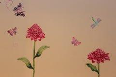 Het schilderen van de bloem Stock Fotografie
