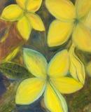 Het Schilderen van de bloem Stock Afbeelding