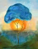 Het schilderen van de boom   Royalty-vrije Stock Afbeeldingen