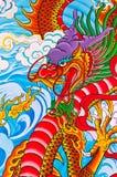 Het schilderen van de draak Stock Afbeeldingen