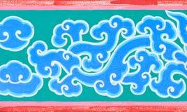 Het schilderen van de draak in abstract patroon Stock Afbeelding