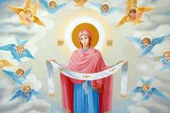 Het schilderen van de engel op het plafond Stock Foto's