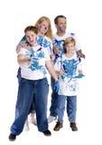 Het Schilderen van de familie Stock Afbeelding