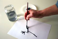 Het schilderen van de hand Stock Afbeeldingen