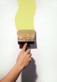 Het schilderen van de hand muur Royalty-vrije Stock Fotografie