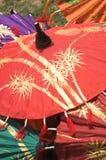 Het schilderen van de hand paraplu's Stock Afbeelding