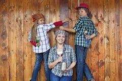 Het schilderen van de hulpmiddelloods Stock Foto