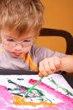Het schilderen van de jongen Royalty-vrije Stock Foto