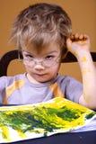 Het schilderen van de jongen Stock Afbeeldingen
