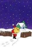 Het schilderen van de Kerstman Stock Afbeelding