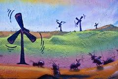 Het schilderen van de Macht van de wind Royalty-vrije Stock Afbeeldingen