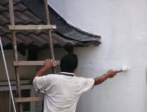 Het schilderen van de mens #2 stock foto