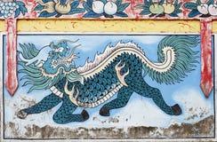 Het schilderen van de muurschildering van Kylin Royalty-vrije Stock Foto's