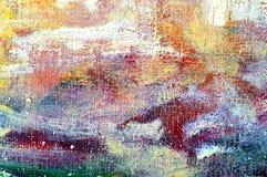 Het schilderen van de olieverf close-up Stock Afbeeldingen