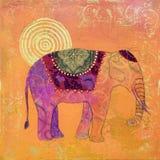 Het schilderen van de olifant Stock Afbeelding