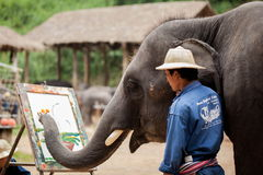 Het schilderen van de olifant art. Royalty-vrije Stock Fotografie