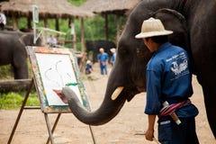 Het schilderen van de olifant art. Stock Fotografie