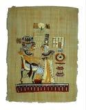 Het schilderen van de papyrus stock afbeelding