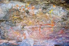 Het schilderen van de rots stock foto