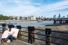 Het schilderen van de schoonheid van Londen Stock Foto's