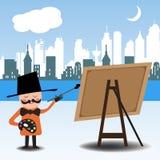 Het schilderen van de stad Royalty-vrije Stock Fotografie
