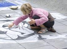 Het schilderen van de straat Stock Foto's