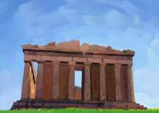 Het schilderen van de tempel Royalty-vrije Stock Afbeelding