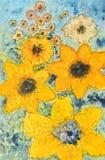 Het schilderen van de waterverf, bloemen royalty-vrije stock foto