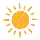 Het schilderen van de zon Royalty-vrije Stock Foto's