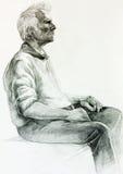 Het schilderen van een mens Stock Afbeeldingen
