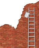 Het schilderen van een muur vector illustratie