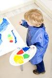 Het schilderen van een verkeerslicht Stock Afbeelding