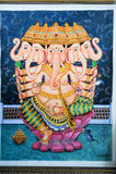 Het schilderen van Ganesh Stock Foto