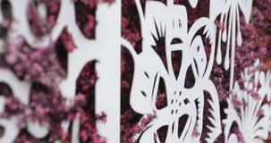 Het schilderen van geschilderde heide stock video