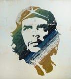 Het schilderen van Guevara van Che in Oud Havana, Cuba. Stock Foto